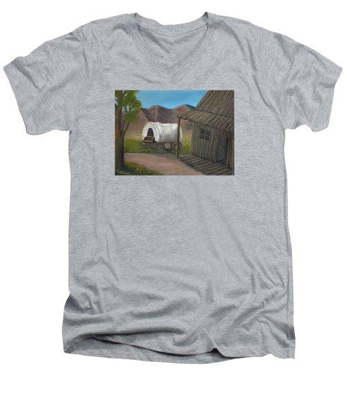 Homestead Men's V-Neck T-Shirt by Sheri Keith