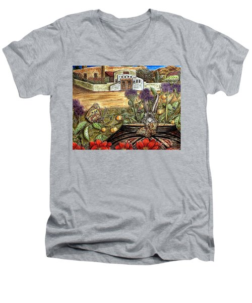 Homesteading Men's V-Neck T-Shirt by Kim Jones