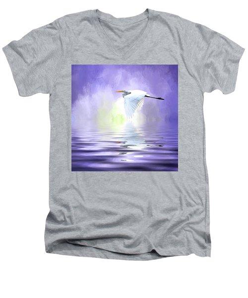 Homeward Bound Men's V-Neck T-Shirt by Cyndy Doty