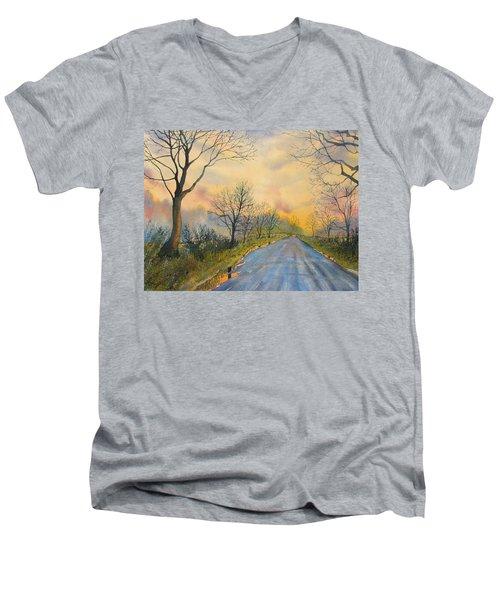 Homeward Bound For Kilham Men's V-Neck T-Shirt