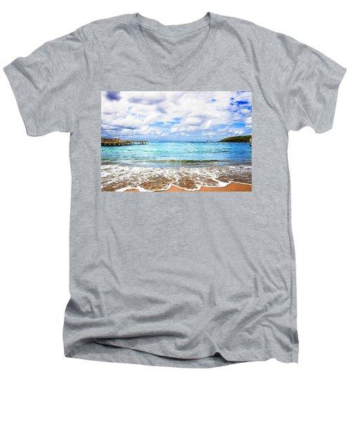 Honduras Beach Men's V-Neck T-Shirt
