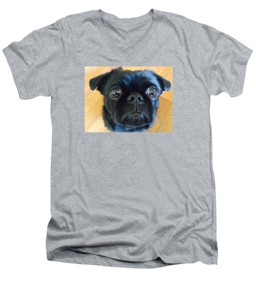 Men's V-Neck T-Shirt featuring the photograph Honestly by Paula Brown