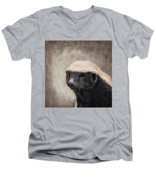 Honey Badger Men's V-Neck T-Shirt