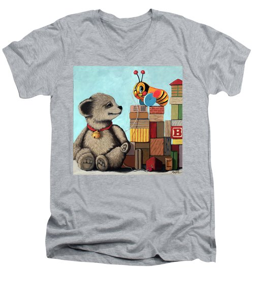 Honey Bear - Vintage Toys Men's V-Neck T-Shirt