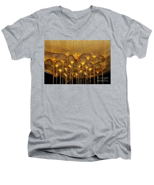 Men's V-Neck T-Shirt featuring the photograph Honey Drip by Stephen Mitchell