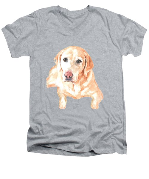 Honey Lab T-shirt Men's V-Neck T-Shirt