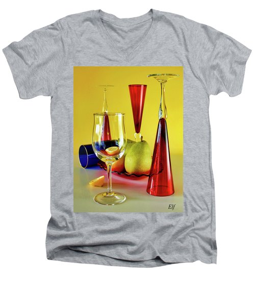 Honor To  Mondrian  Men's V-Neck T-Shirt