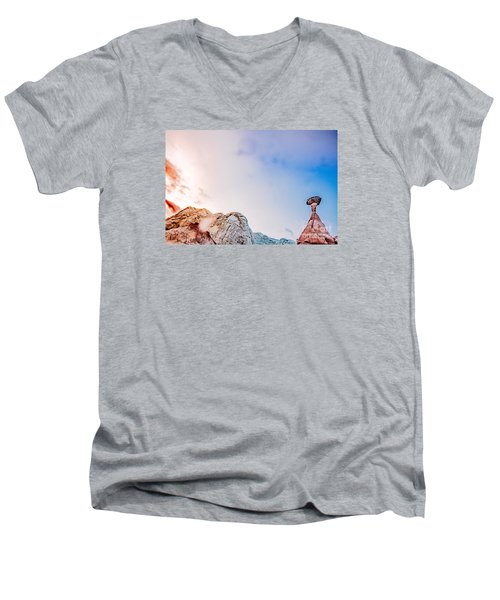Hoo Doos At Sunset Men's V-Neck T-Shirt