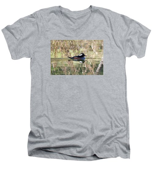 Hooded Merganser Men's V-Neck T-Shirt