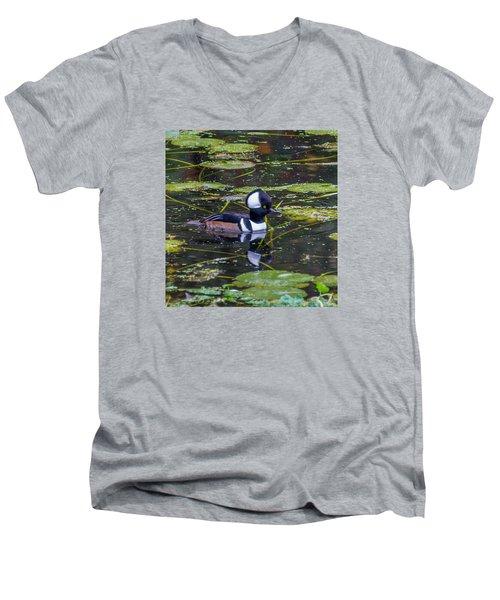 Hooded Merganser Men's V-Neck T-Shirt