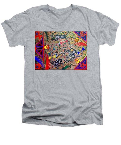 Hookah Monkeys - Jinga Monkeys Series Men's V-Neck T-Shirt