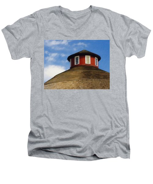 Hoosier Cupola Men's V-Neck T-Shirt by Sandy MacGowan