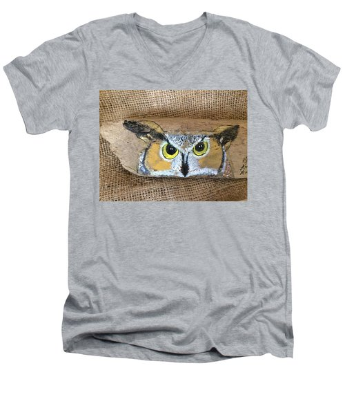 Hoot Owl Men's V-Neck T-Shirt