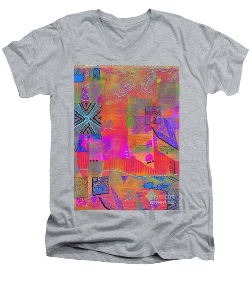 Men's V-Neck T-Shirt featuring the mixed media Hope And Dreams by Angela L Walker