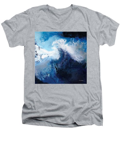 Hope In The Lord. Psalm 31 24 Men's V-Neck T-Shirt