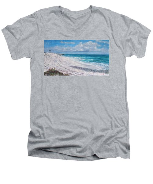 Hope Town Beach Men's V-Neck T-Shirt