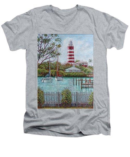 Hope Town Lighthouse Men's V-Neck T-Shirt