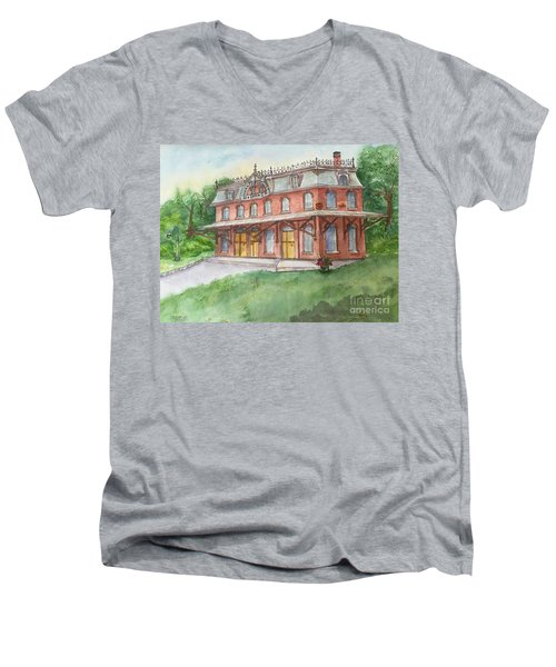 Hopewell Nj Train Station Men's V-Neck T-Shirt
