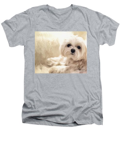 Hoping For A Cookie Men's V-Neck T-Shirt by Lois Bryan