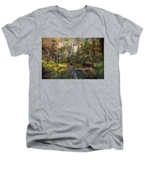 Hopkins Pond, Haddonfield, N.j. Men's V-Neck T-Shirt