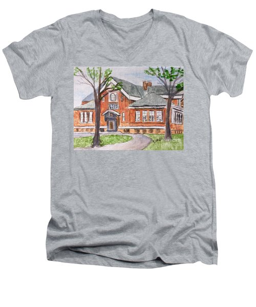 Horace Mann School Amesbury Ma Men's V-Neck T-Shirt