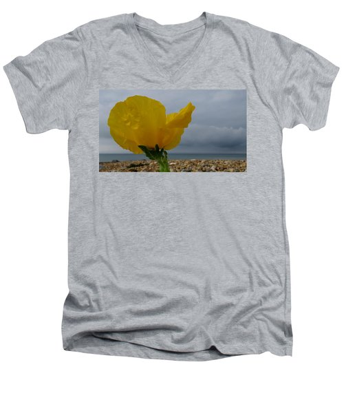 Horned Poppy By The Sea Men's V-Neck T-Shirt by John Topman