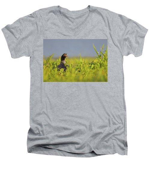 Horned Screamer Men's V-Neck T-Shirt