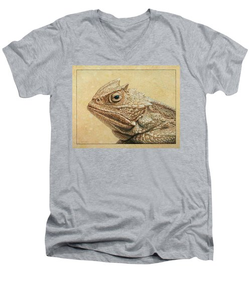 Horned Toad Men's V-Neck T-Shirt