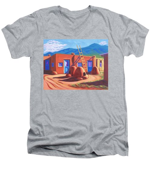 Horno De Pan Taos Men's V-Neck T-Shirt