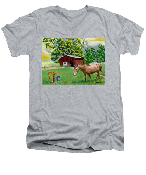 Horse And Barn Men's V-Neck T-Shirt