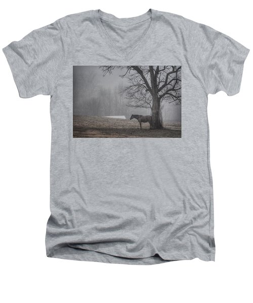 Horse And Tree Men's V-Neck T-Shirt
