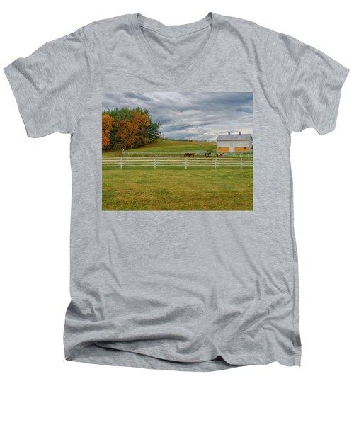 Horse Barn In Ohio  Men's V-Neck T-Shirt