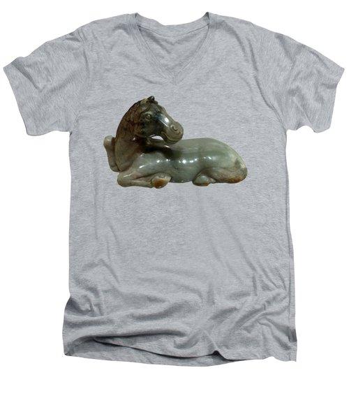 Horse Figure Men's V-Neck T-Shirt