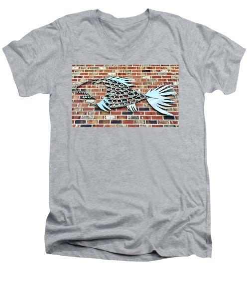 Fish Shoe  Men's V-Neck T-Shirt
