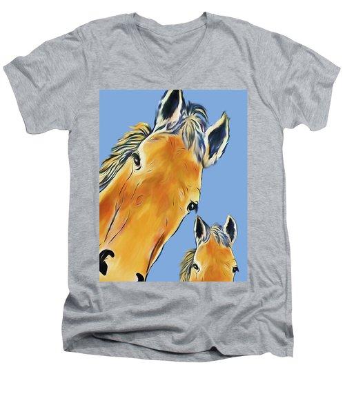 Horse Heads Men's V-Neck T-Shirt