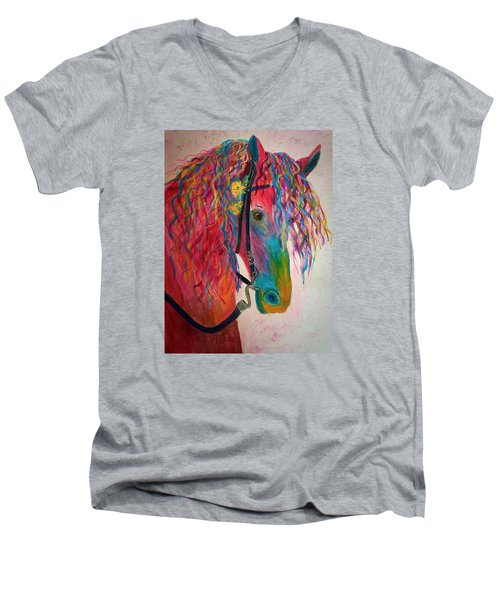 Horse Of A Different Color Men's V-Neck T-Shirt