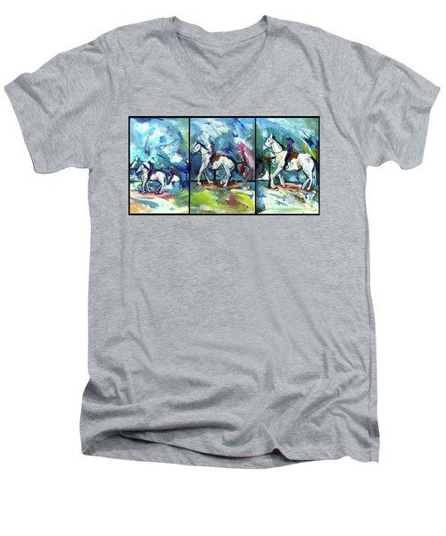Horse Three Men's V-Neck T-Shirt
