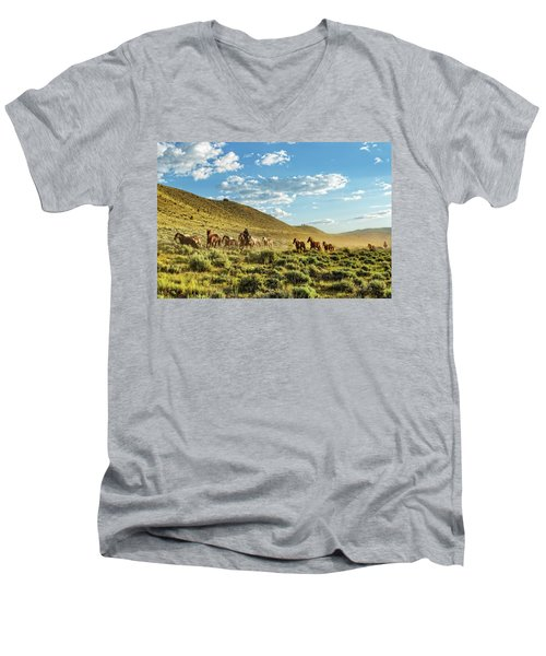 Horses And More Horses Men's V-Neck T-Shirt