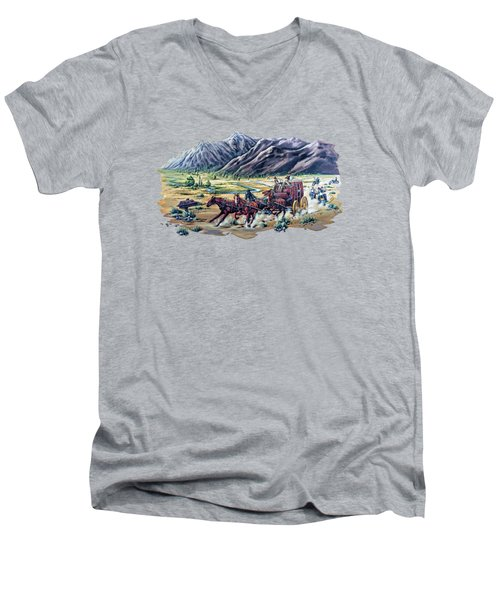 Horses And Motorcycles Men's V-Neck T-Shirt