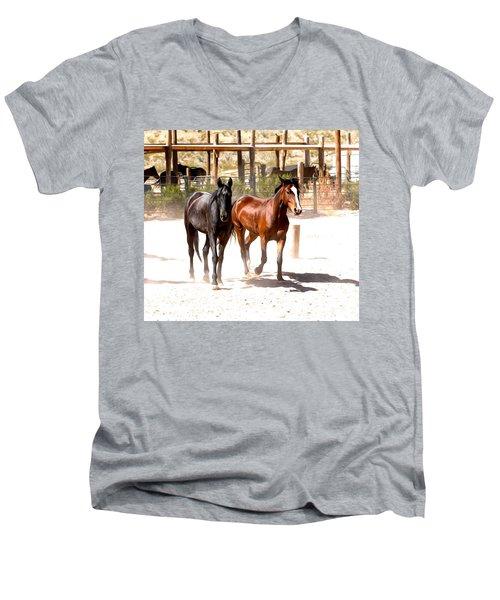 Horses Unlimited_6a Men's V-Neck T-Shirt
