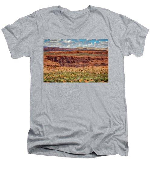 Horseshoe Bend Arizona #2 Men's V-Neck T-Shirt by Jennifer Rondinelli Reilly - Fine Art Photography