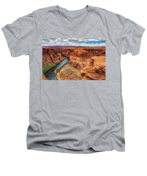 Horseshoe Bend Arizona - Colorado River $4 Men's V-Neck T-Shirt by Jennifer Rondinelli Reilly - Fine Art Photography