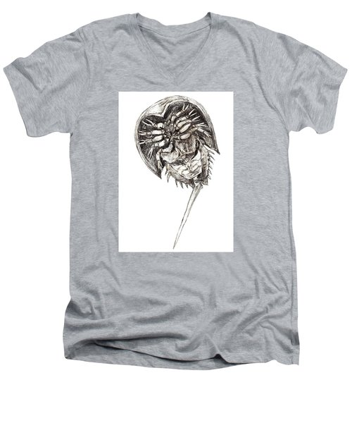 Horseshoe Crab Men's V-Neck T-Shirt