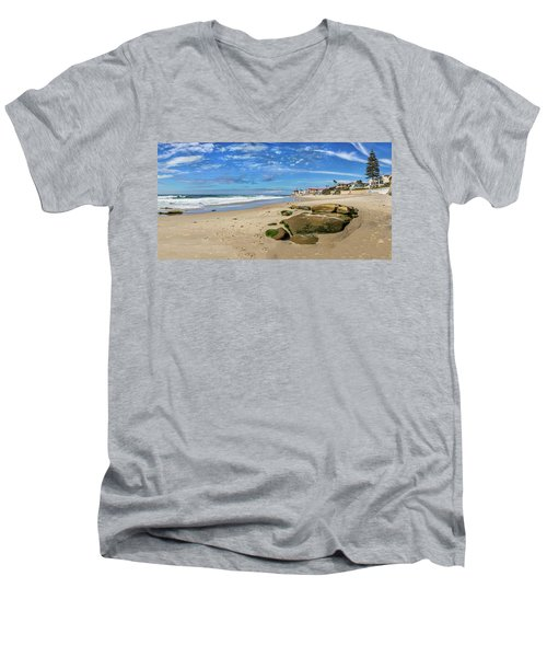 Men's V-Neck T-Shirt featuring the photograph Horseshoes by Peter Tellone