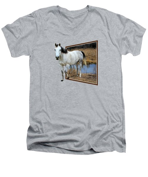 Horsing Around Men's V-Neck T-Shirt