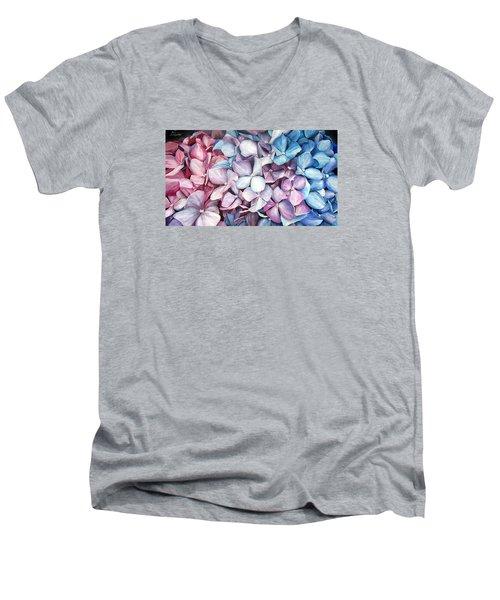 Hortensias Men's V-Neck T-Shirt