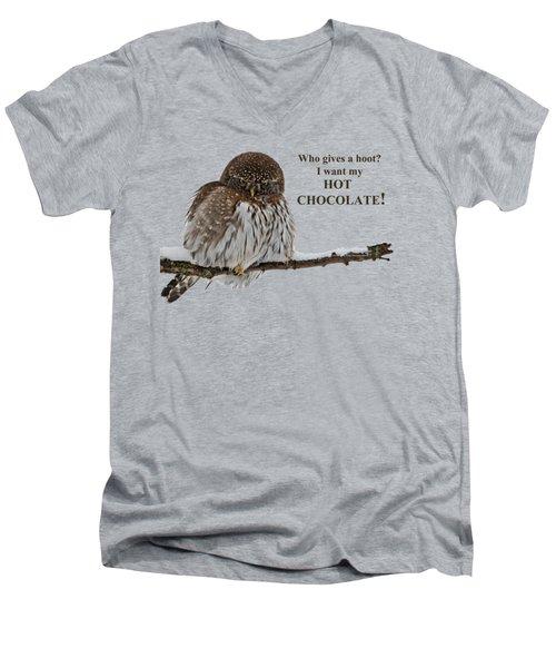Hot Chocolate Owl Men's V-Neck T-Shirt