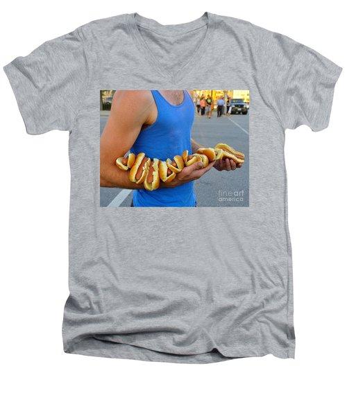 Hot Dog Man Men's V-Neck T-Shirt