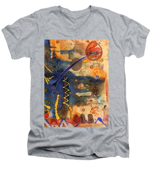 Hot Fun Out West In Arizona Men's V-Neck T-Shirt