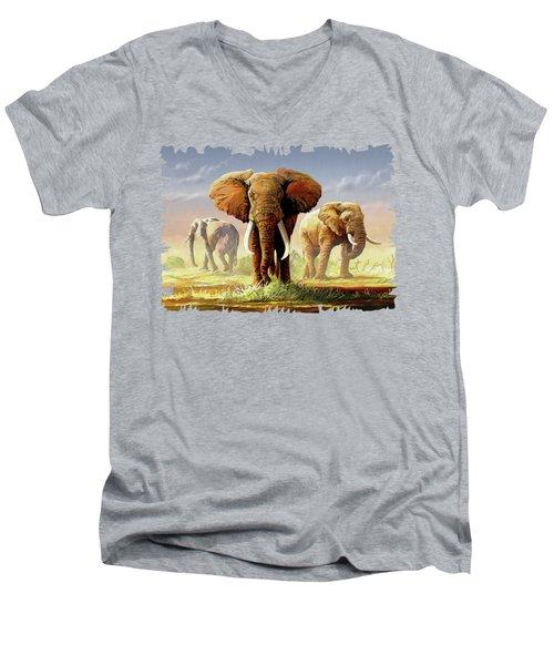 Hot Mara Afternoon Men's V-Neck T-Shirt by Anthony Mwangi